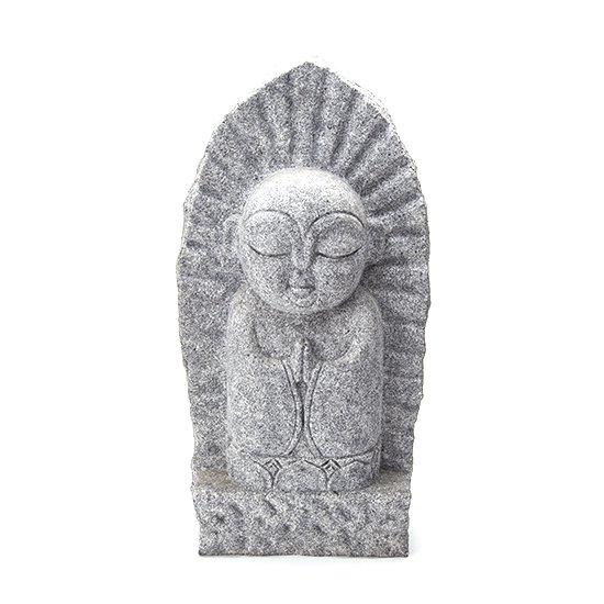 舟形のお地蔵さん(庵治石)/Funagata Jizo (Boat-shaped Jizo, Aji stone)