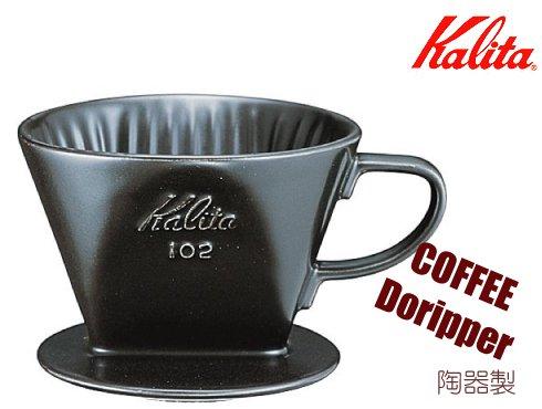 102-ロトブラック|カリタ 陶器製コーヒードリッパー