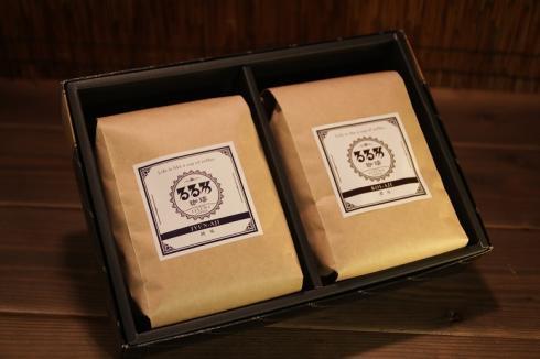 ギフトセット コーヒー豆200g 2種(純味・濃味)