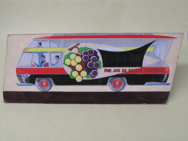 1点物 イラスト フランスの流線型コマーシャルトラック
