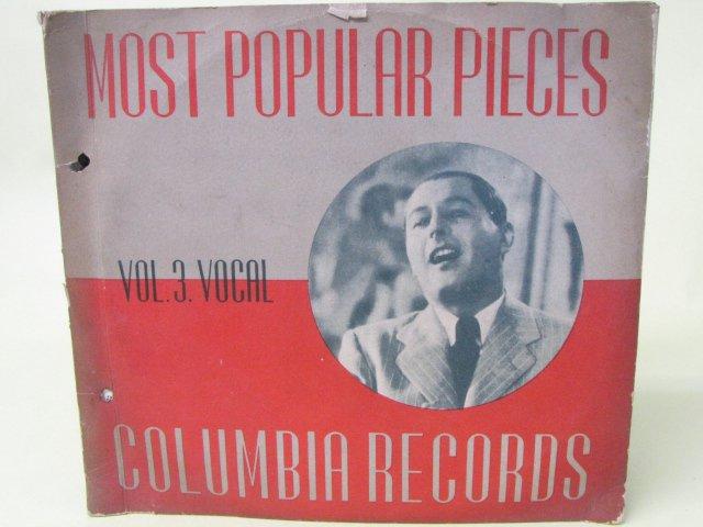 Columbia コロンビアレコード 3枚組 解説付き 野薔薇 帰れソレントへ他