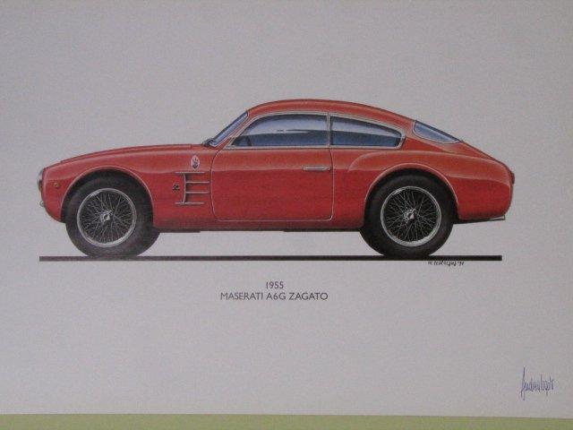 1955 MASERATI A6G ZAGATO マセラティ 側面図