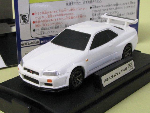 M TECH R34 SKYLINE GT-R 日産 スカイライン 白 箱付 1/43