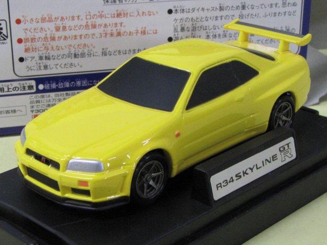 M TECH R34 SKYLINE GT-R 日産 スカイライン 黄 箱付 1/43