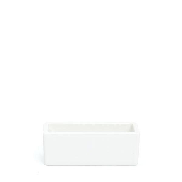 倉敷意匠/ 白磁角ポット 名刺サイズ