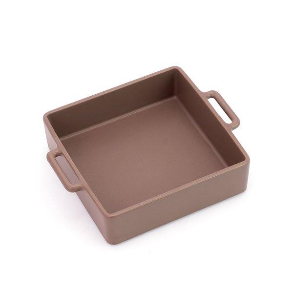 かもしか道具店/グリル皿 中 (茶)