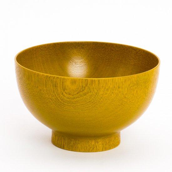 お椀やうちだ/色拭き漆椀 黄(専用ケース入り)