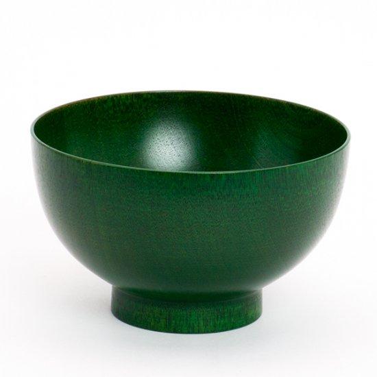お椀やうちだ/色拭き漆椀 緑(専用ケース入り)