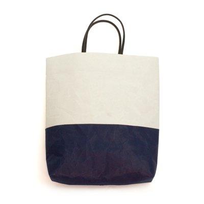 SIWA|紙和/【限定】 縦型バッグ バイカラー (グレー ダークブルー)