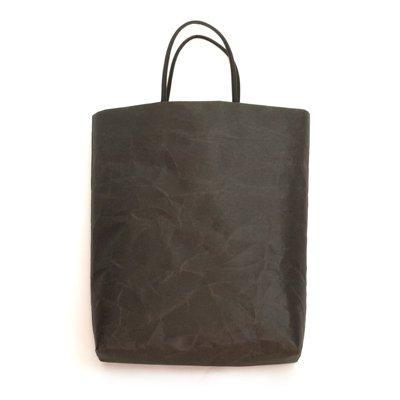 SIWA|紙和/縦型バッグ (ブラック)