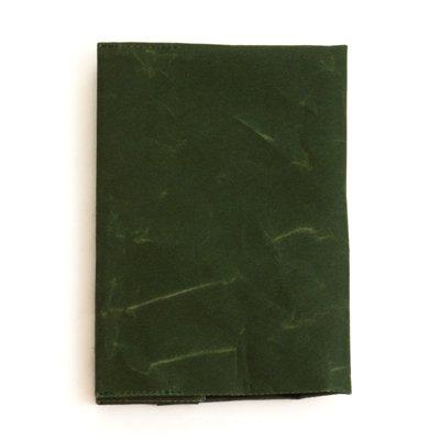 SIWA|紙和/ブックカバー 文庫本サイズ(ダークグリーン)
