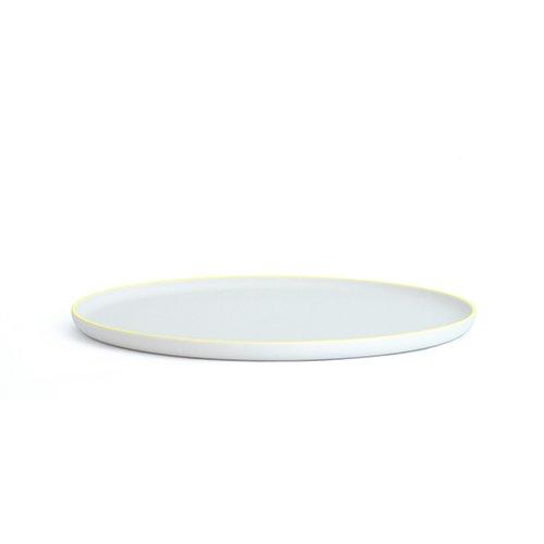 1616/aritajapan  S&B Flat Plate(L) プレーンホワイト/イエロー