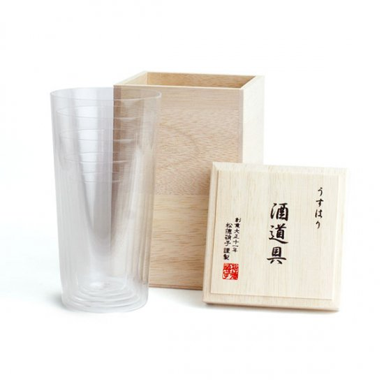松徳硝子/うすはり酒道具(5点セット)