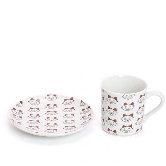 KUTANI SEAL/ COFFEE&CAKE SET (丸皿+マグカップ)子猫