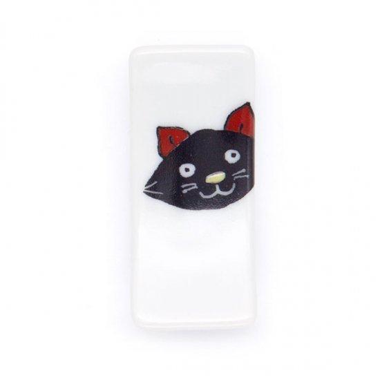 KUTANI SEAL/ 箸置 黒猫