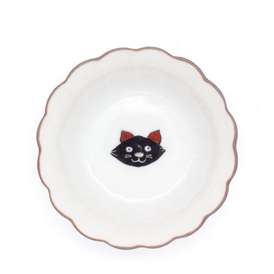 KUTANI SEAL/ 菊小鉢 黒猫