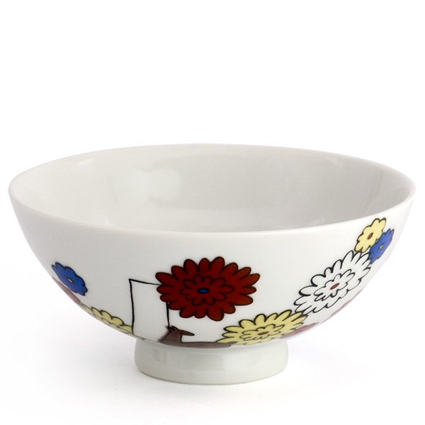 KUTANI SEAL/お花のごはん茶碗(菊)