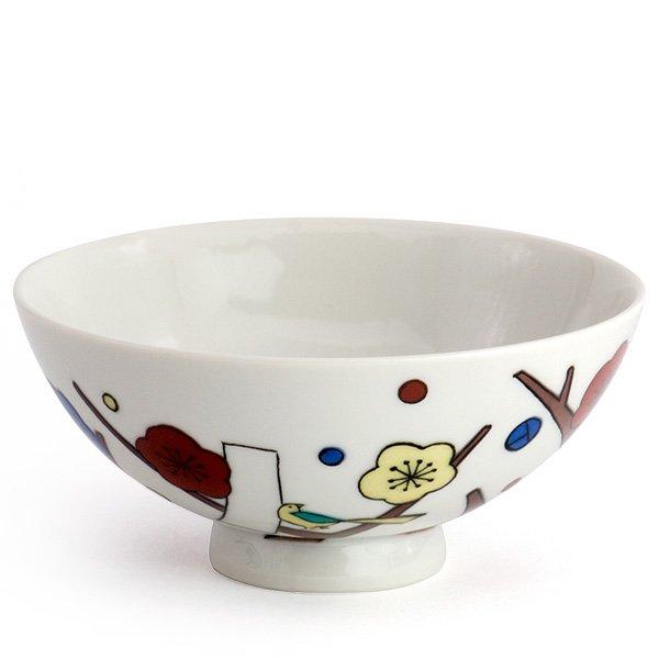 KUTANI SEAL/お花のごはん茶碗(梅)