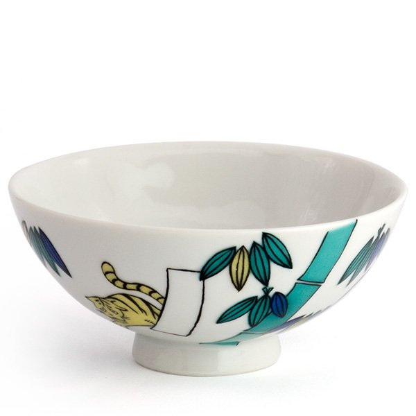 KUTANI SEAL/お花のごはん茶碗(竹)