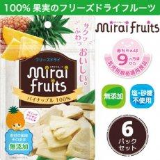 フリーズドライ フルーツ [パイナップル] ×6パック mirai fruits(ミライフルーツ)