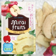 mirai-fruitsシリーズ【りんご 単品】 無添加 無加糖 油不使用 ベビーフード ドライフルーツ フリーズドライフルーツ 防災食品