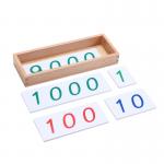 プラスティック製 数字カード 小 (1-9000) 箱つき