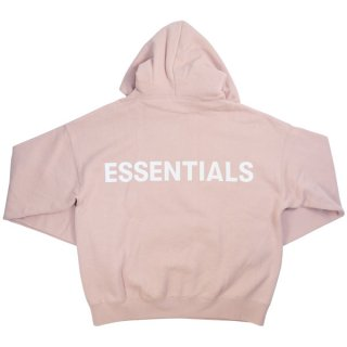 Fear of God フィアーオブゴッド Essentials Pullover Hoodie バックリフレクターロゴプリントパーカー ピンク Size【S】 【新古品・未使用品】
