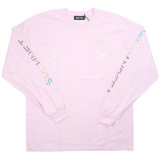 WIND AND SEA×SOPHNET. WDS (LINE STONE) L/S T-SHIRT (SPNT-03) ピンク【XL】 【新古品・未使用品】