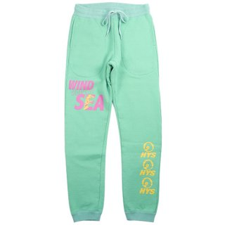 WIND AND SEA HYSTERIC GLAMOUR WDS SWEAT PANTS / GREENスウェットパンツ 緑【M】 【新古品・未使用品】