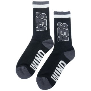 WIND AND SEA ×hysteric glamour WDS SOX / BLACK (02203QT03) ソックス 靴下 黒 Size【フリー】 【新古品・未使用品】