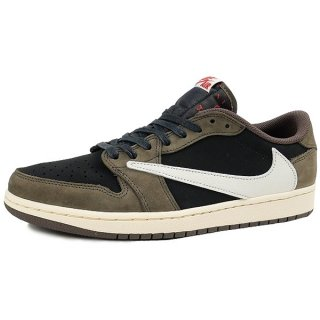 NIKE ×TRAVIS SCOTT AIR JORDAN エアジョーダン 1 LOW OG SP-T CQ4277-001 スニーカー 茶【26.5cm】 【新古品・未使用品】