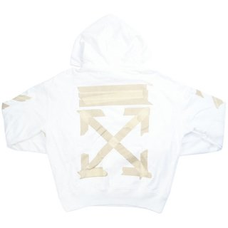 OFF WHITE オフホワイト 20AW TAPE ARROWS HOODIE パーカー 白 Size【M】 【中古品-良い】【中古】
