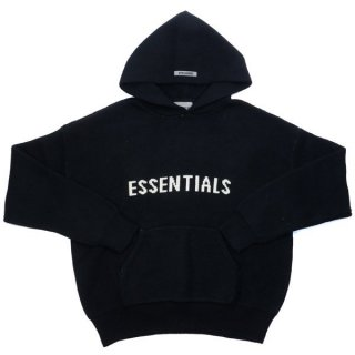 Fear of God Essentials Black Knit Hoodie ニットパーカー 黒 Size【S】 【新古品・未使用品】