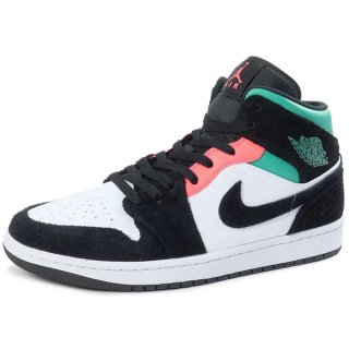 NIKE AIR JORDAN 1 MID SE WHITE/HOT PUNCH-BLACK 852542-116 スニーカー 黒緑 Size【28.0cm】 【新古品・未使用品】