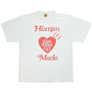 Girls Don't Cry ×HUMAN MADE ヒューマンメイド 京都店OPEN限定 T-SHIRT Tシャツ 白赤 Size【M】 【新古品・未使用品】