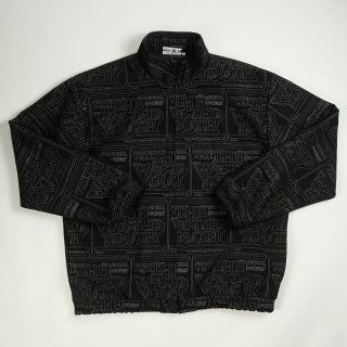 Wasted youth ×The Black Eye ブラックアイパッチ Patch Track Jacket ジャケット 黒 Size【XL】 【良い】【中古】