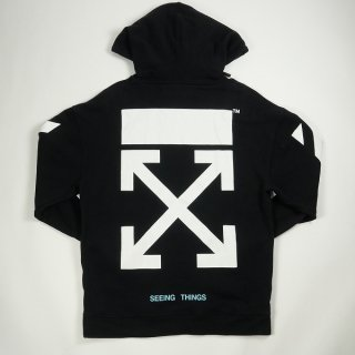 OFF WHITE オフホワイト DIAG ARROWS OVER HOODIE パーカー 黒 Size【XS】 【良い】【中古】