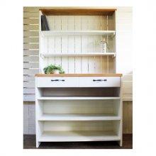 アンティーク風 無垢材のキッチン収納棚 食器棚 KC-011