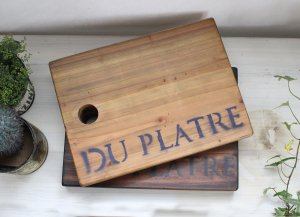 アンティーク風 無垢材の木製カッティングボード  IZ-029