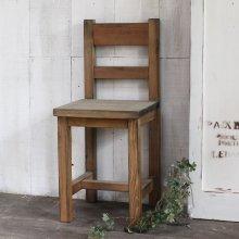 アンティーク風 無垢材のキッズチェアー 子供用椅子 ダイニングチェアー CS-024