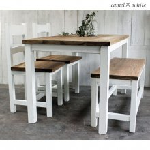 ダイニングテーブルセット  無垢材 ナチュラルアンティーク風 DS-021