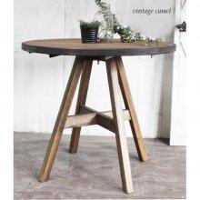 2人用テーブル カフェ什器 無垢材 ラウンド型 スクエア型 MOKO MT-022