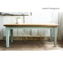 アンティーク風 無垢材のテーパー脚カフェテーブル CT-007