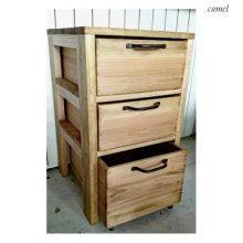 アンティーク風 無垢材のサイドデスク棚 SD-023