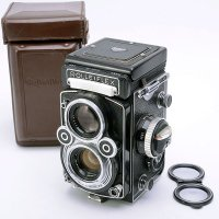 <img class='new_mark_img1' src='https://img.shop-pro.jp/img/new/icons39.gif' style='border:none;display:inline;margin:0px;padding:0px;width:auto;' />ROLLEIFLEX ローライフレックス 3.5F Planar プラナー 75mmF3.5 + 純正革ケース
