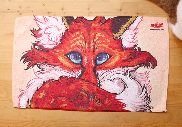 "COOL TOWEL ""RED FOX""<img class='new_mark_img2' src='https://img.shop-pro.jp/img/new/icons39.gif' style='border:none;display:inline;margin:0px;padding:0px;width:auto;' />"
