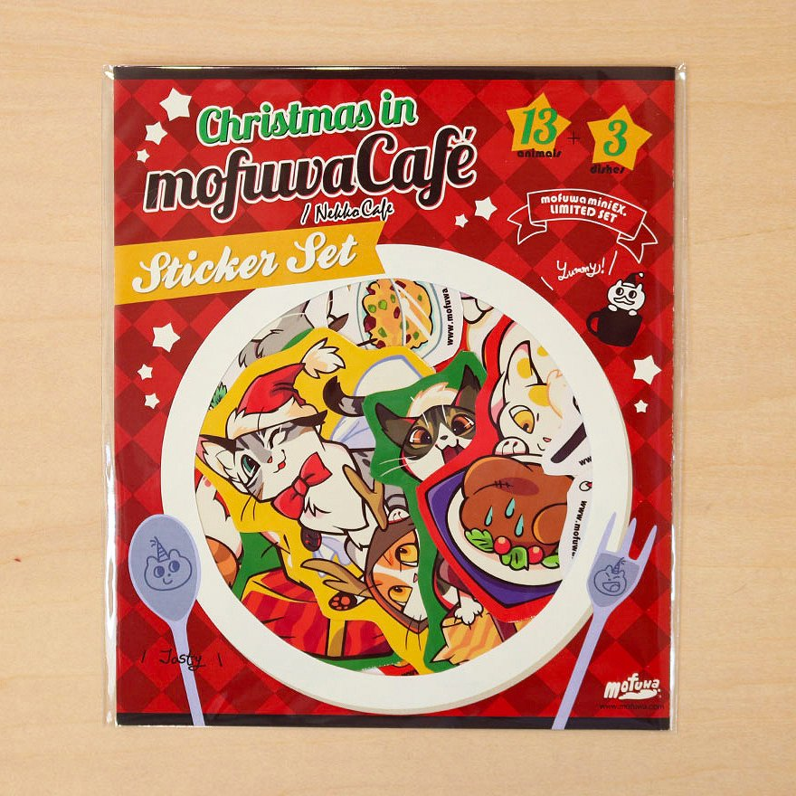 """""""mofuwa Cafe Christmas"""" STICKER SET"""