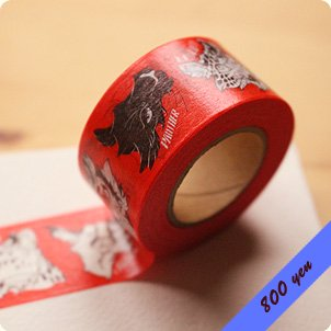 "Masking Tape ""BIG CATS""<img class='new_mark_img2' src='https://img.shop-pro.jp/img/new/icons39.gif' style='border:none;display:inline;margin:0px;padding:0px;width:auto;' />"