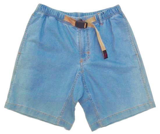 イメージ:GRAMiCCi Women's Lt Denim Zip G-Shorts (HARD USED)