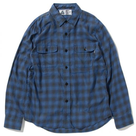 イメージ:CHALLENGER-CHECK SHIRT(CLG-SH 017-005)(COLOR:NAVY)